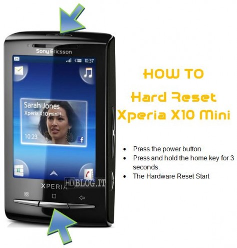 Hard Reset Xperia X10 Mini Android