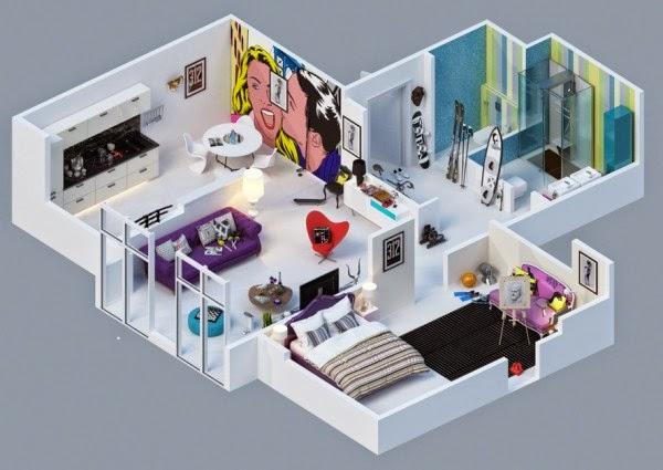 Gambar Denah Rumah Minimalis Modern 3d Terbaru 2014 Desain Rumah