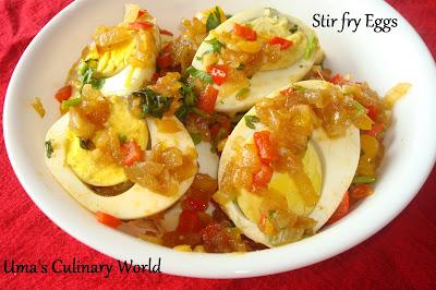 stir fry eggs