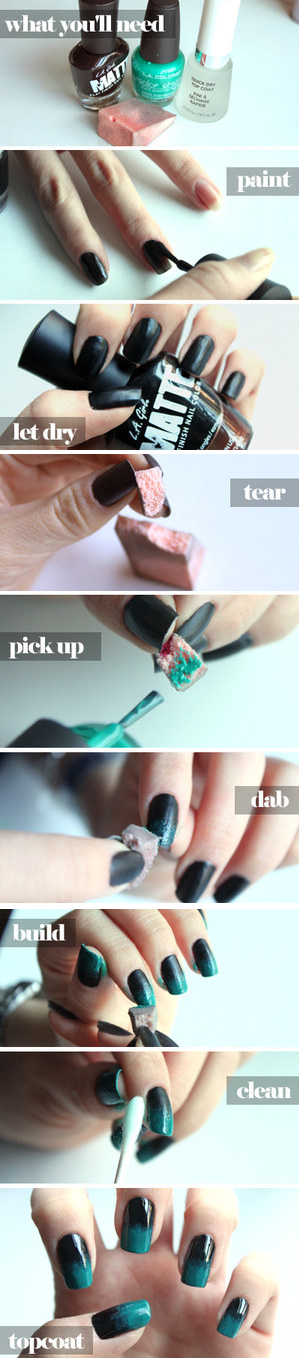 diy Ombre Nails Manicure