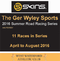 Road Race Series in Waterford...Apr to Aug 2016