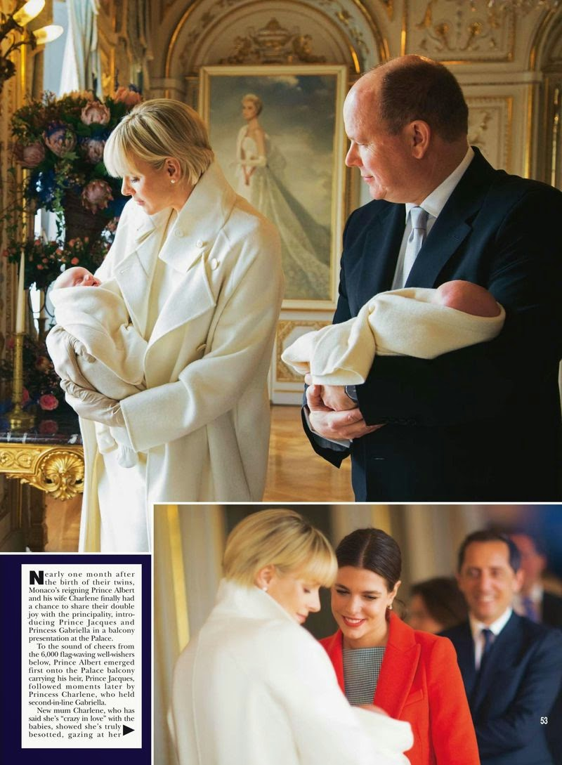 Princess of Monaco: Charlene Wittstock - Hello, UK, January 2015