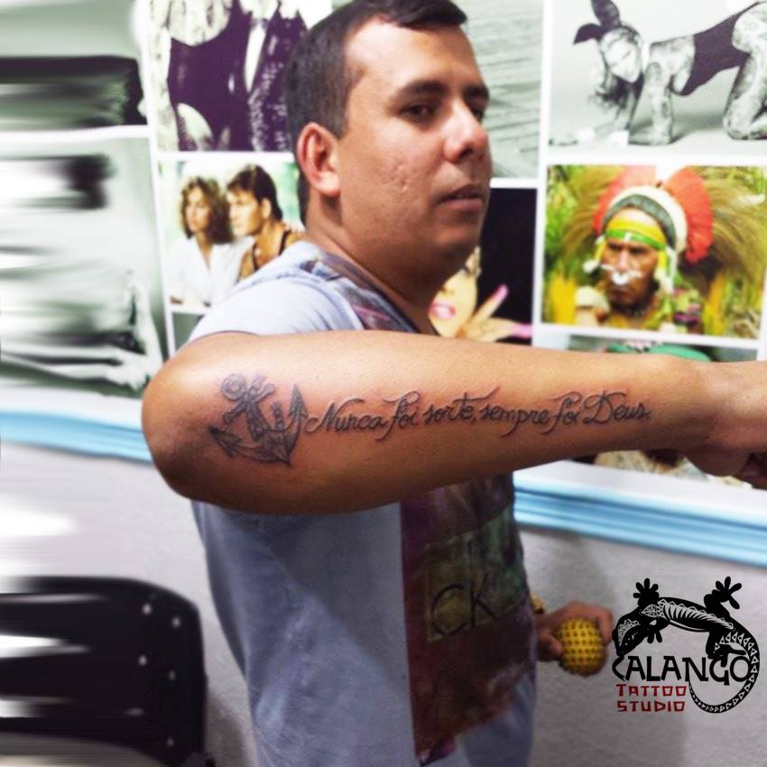 Nunca Foi Sorte Sempre Foi Deus Calango Tattoo Studio
