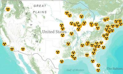 centrales nucleares costa este de EEUU