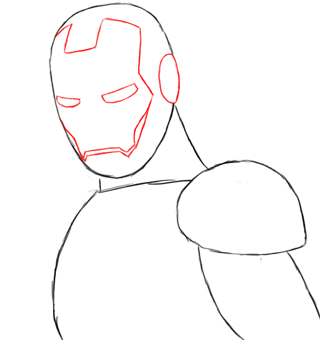 Iron Man Face Sketch Images & Pictures - Becuo