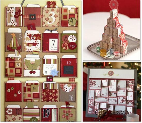 el calendario de la izquierda y el de abajo son perfectos para rellenar con actividades navideas escritas en tarjetas como comprar castaas asadas