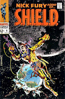 Nick Fury Agent of Shield v1 #6 marvel comic book cover art by Jim Steranko