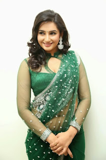 Actress Ragini Dwivedi  Pictures in Saree at Jenda Pai Kapiraju Audio Launch 0045