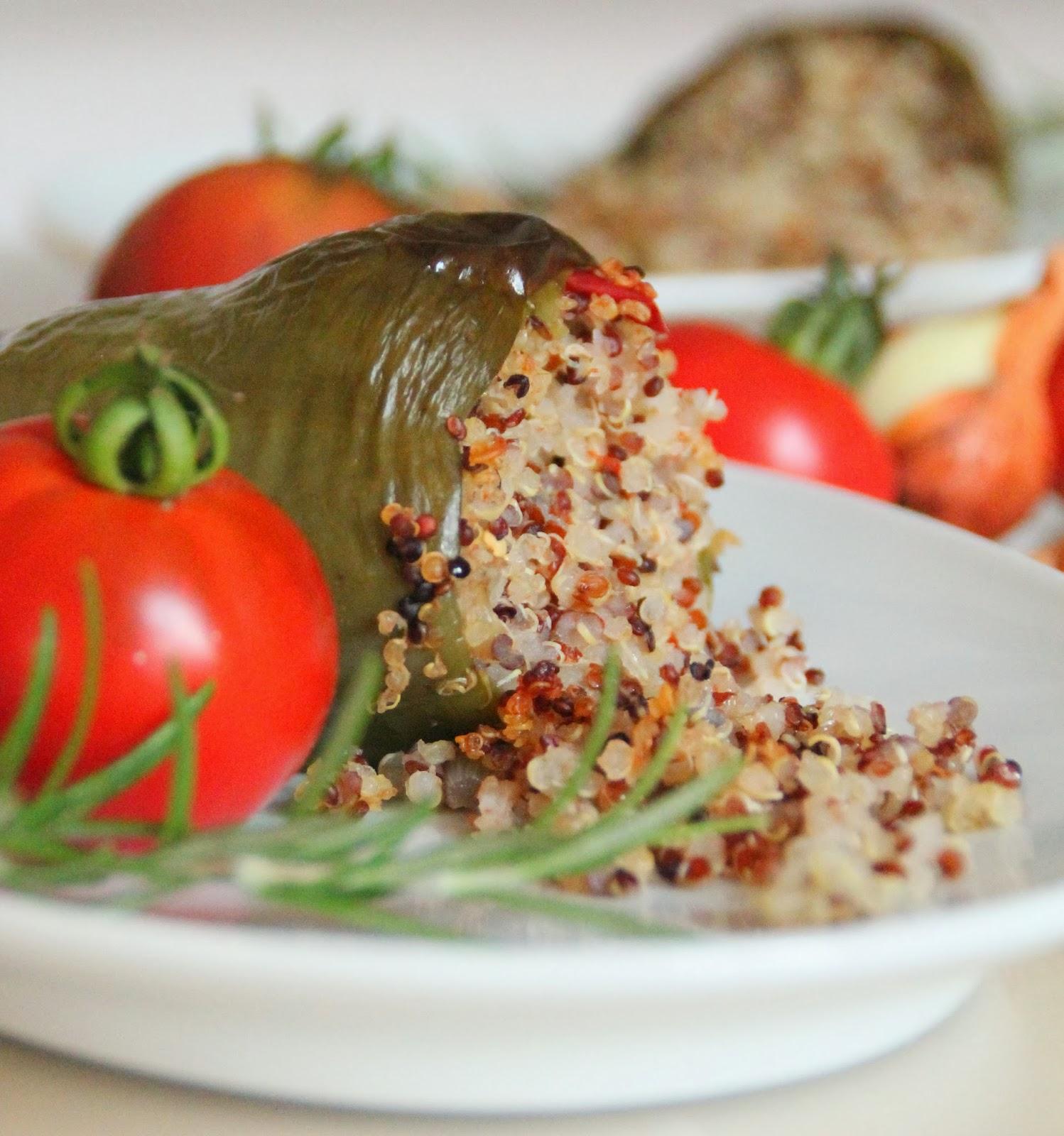 poivrons farcis a la quinoa et aux legumes