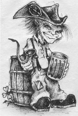 Los Clurichaun, un peculiar tipo de duende de Irlanda, el cual es hostil, borracho y de carácter solitario.