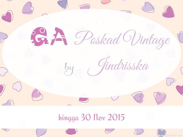 Giveaway Poskad Vintage