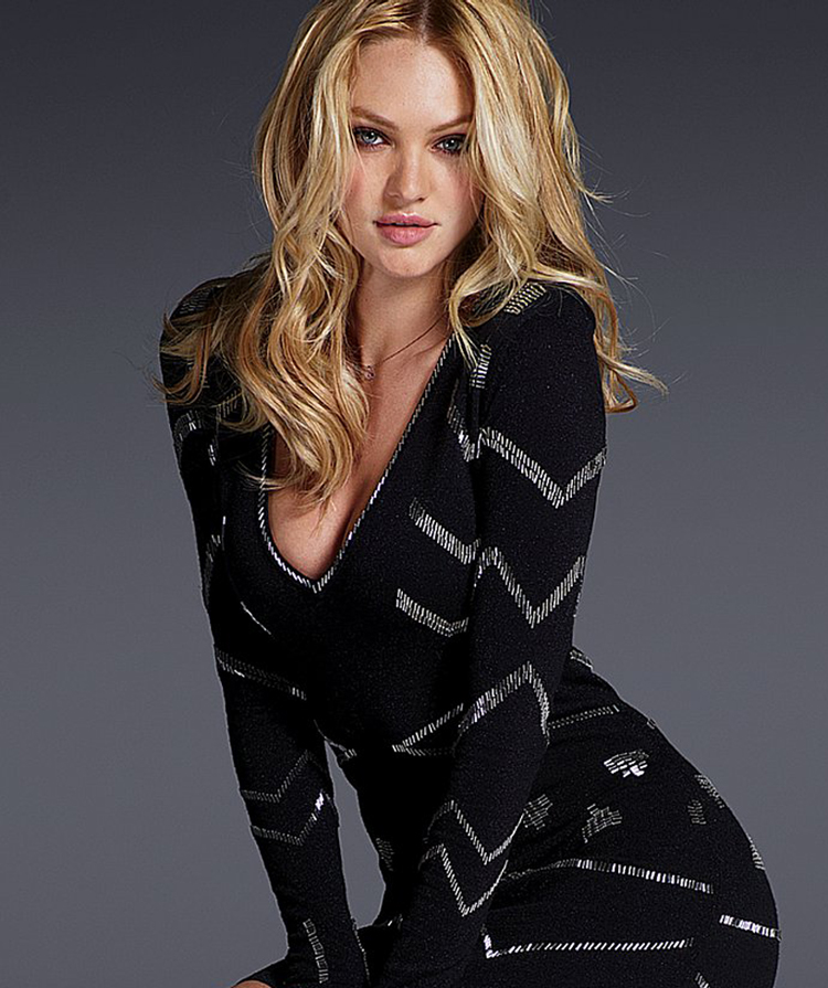Candice Swanepoel Blonde Hairstyle