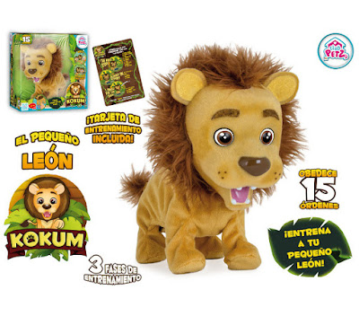 TOYS : JUGUETES - CLUB PETZ Kokum El Baby León   Peluche Interactivo Producto Oficial   IMC Toys 94710   A partir de 3 años comprar en Amazon España