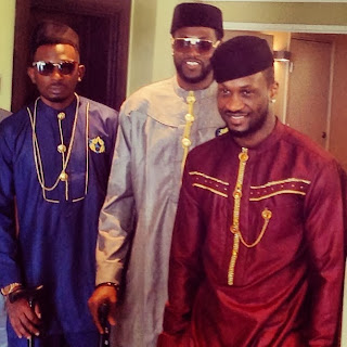 May D Spotted With Peter P Square At His Traditional Wedding