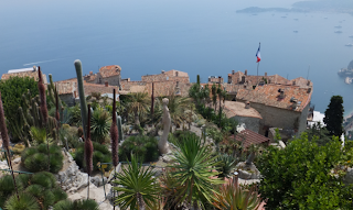 Eze village - view of sea and red rooftops