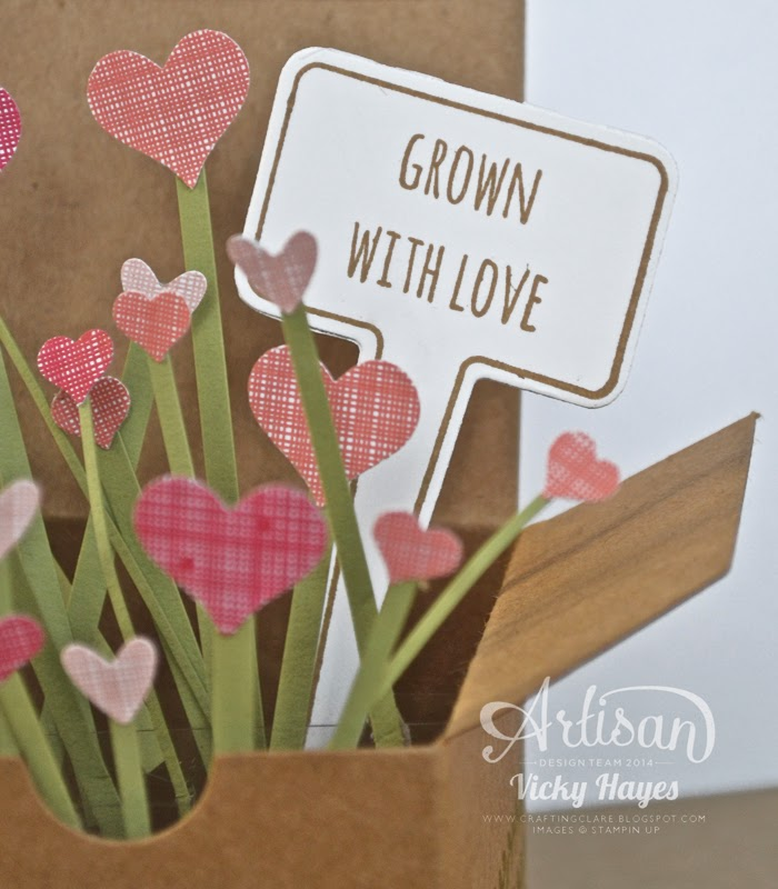 A perfect card to celebrate a special anniversary or valentine or wedding