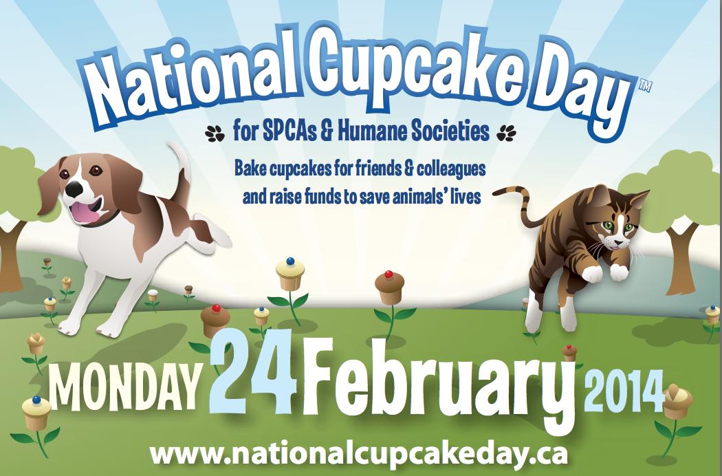 image National Cupcake Day Poster Monday February 24 2014 Join Kawartha Lakes Mums helping pets
