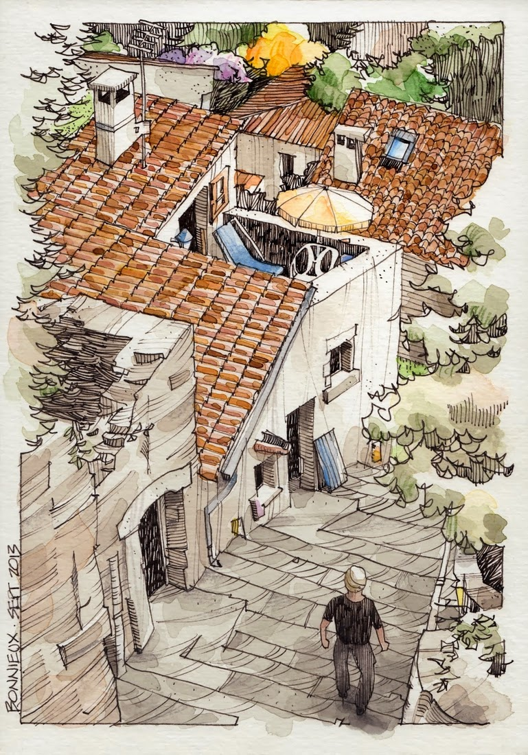 19-Bonnieux-1-Jorge-Royan-Drawings-Sketches-of-Travel-Logs-www-designstack-co