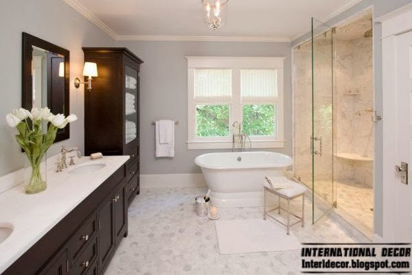 Gray bathroom, Fashion color trends 2014 interior design decor