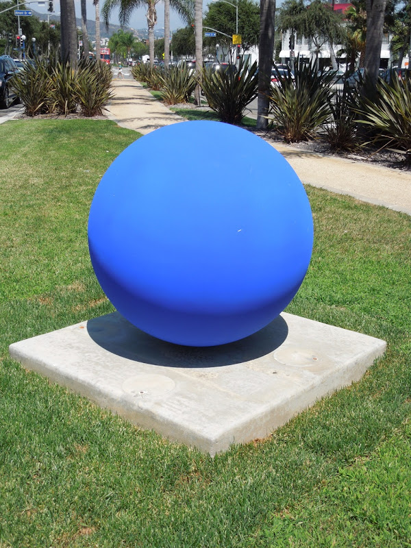 Achenar blue ball sculpture Lila Albuquerque