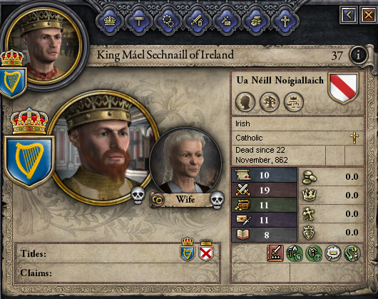 crusader kings 2 how to become king of ireland