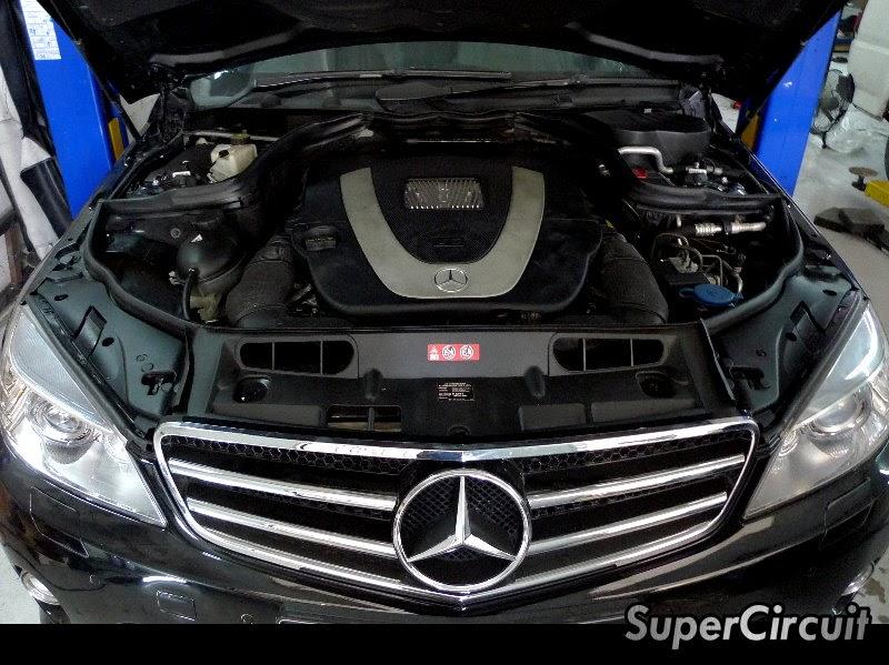Supercircuit exhaust pro shop mercedes benz c class w204 for Mercedes benz c class engine