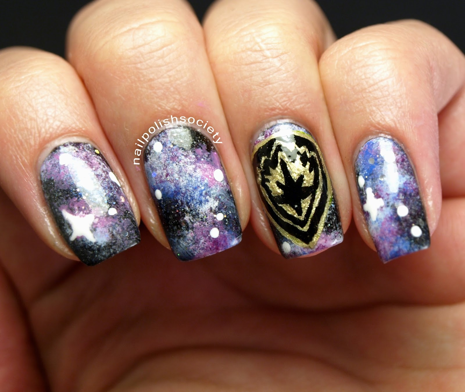 Nail Polish Society: 31DC2014 Day 19: Guardians of the Galaxy Nails