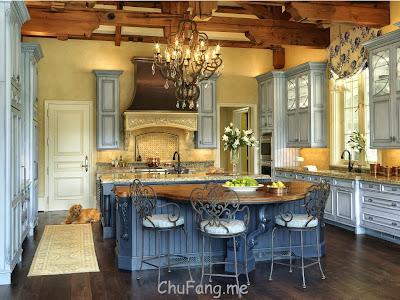Decoração de uma cozinha em estilo rústico
