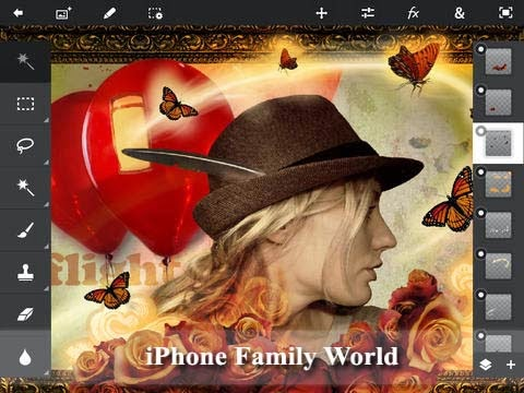 Adobe Photoshop Touch 1.5.1 - iphone family world | iphone family