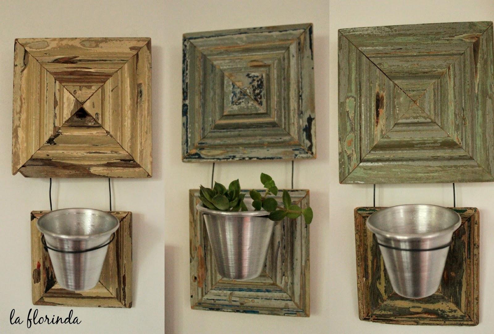 Tienda la florinda porta macetas madera recuperada - Como fabricar maceteros de madera ...