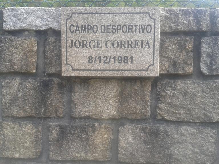 Placa Campo Desportivo Jorge Correia