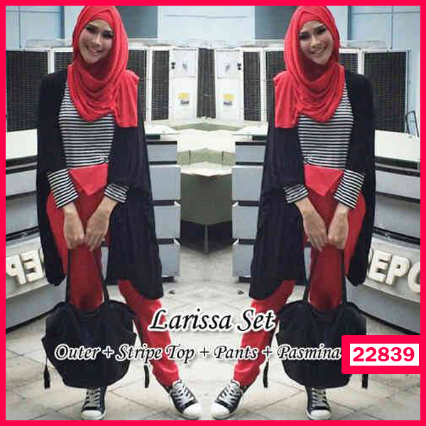 Busana: Busana Fashion Wanita Larissa Hijab (BBB-056)