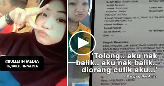 GEMPAR!! Rakaman audio gadis 14 tahun diculik oleh van putih di Pelabuhan Klang
