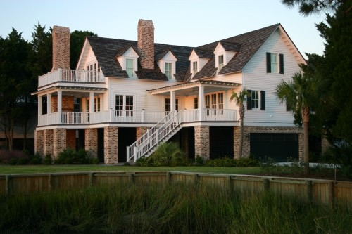 low country architecture content in a cottage