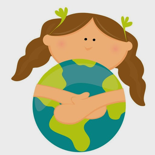 Girl hugging the earth!