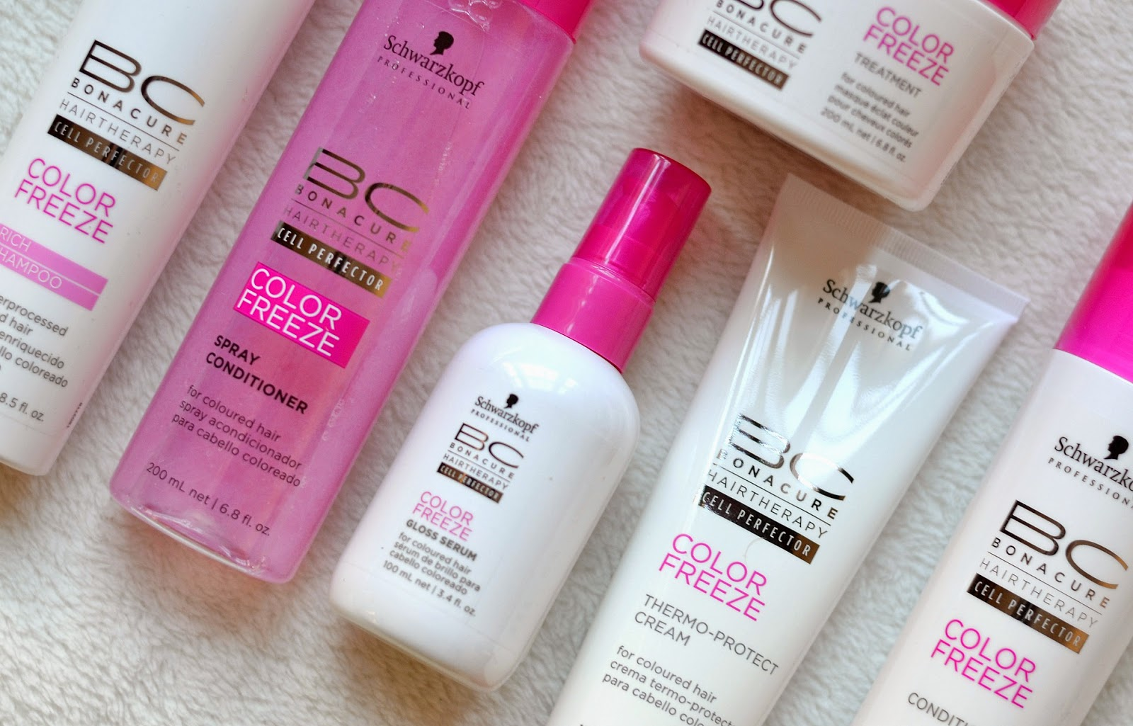 New from schwarzkopf professional bonacure color freeze for Salon shampoo