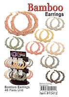 Bamboo Earrings Wholesale