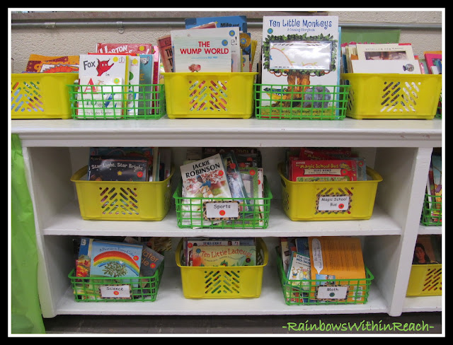 photo of: Classroom Bins (Organization in the Classroom)
