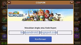 tampilan form isian kupon kode offline event coupon