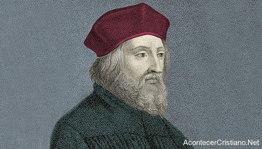 Retrato del reformador Juan Hus