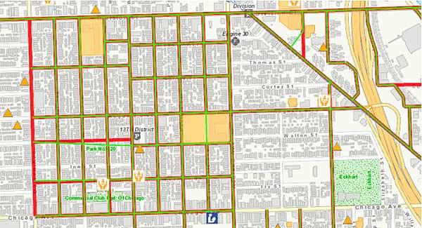 West Town Chicago Map.East Village Association West Town Chicago April 2012