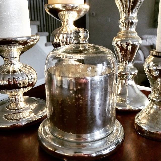 Clocke, Candle, Pot, Mercury Glass, Pottery Barn