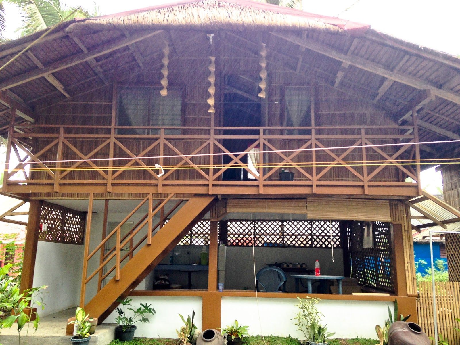House design nipa hut - A Two Storey Nipa Hut W Own Cr Dining Kitchen And A Big Room Good For 10 Pax