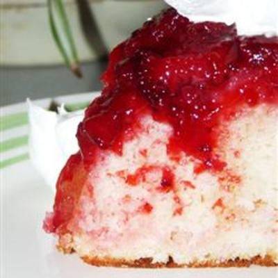 Strawberries Jello Marshmallow Cake