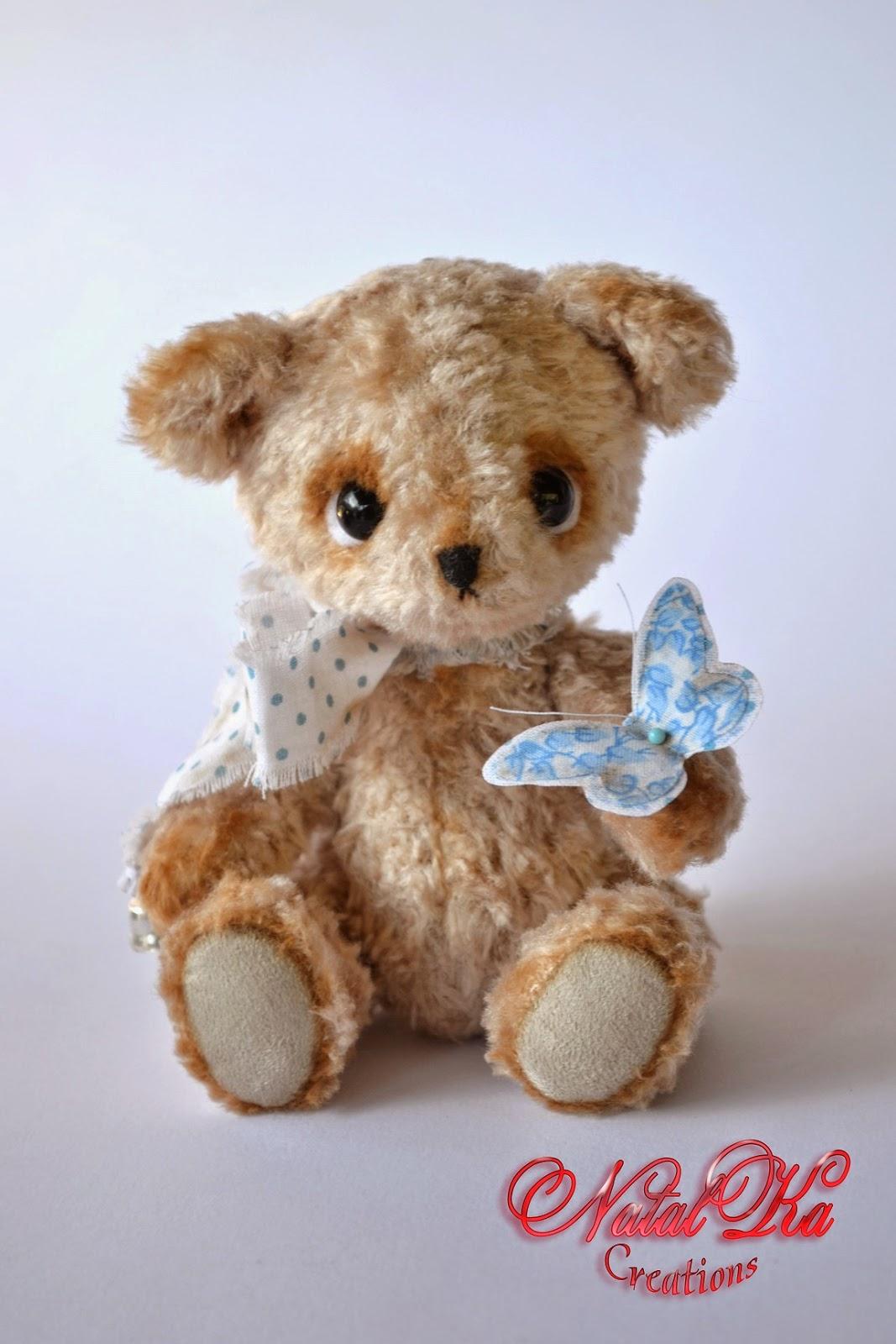 Künstler Teddybär handgemacht von NatalKa Creations. Авторский мишка тедди ручной работы от NatalKa Creations.