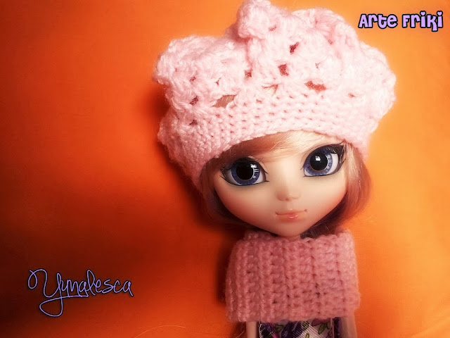 pullip banshee gorro hat crochet ganchillo patron pattern doll clothes