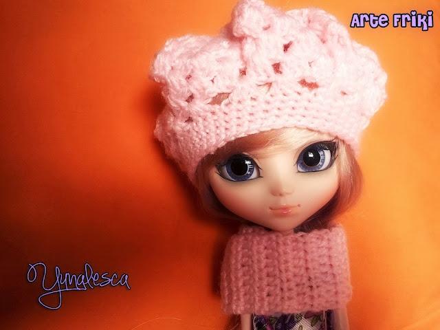 pullip banshee gorro hat crochet ganchillo patron pattern doll clothes