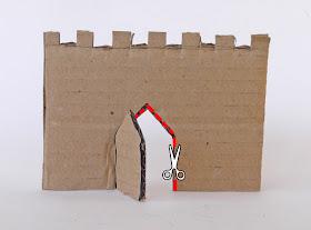 door castle, how to open a door in castle, paper castle, kids castle, castle crafts,