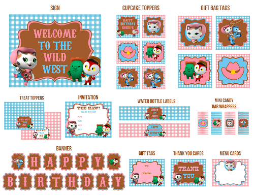 Sheriff Callies Wild West Printables Crafts and Activities for – Wild West Birthday Invitations