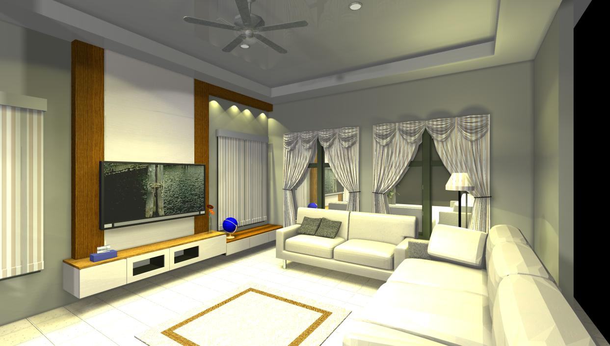 Interior design custom made furniture kl for Living hall interior